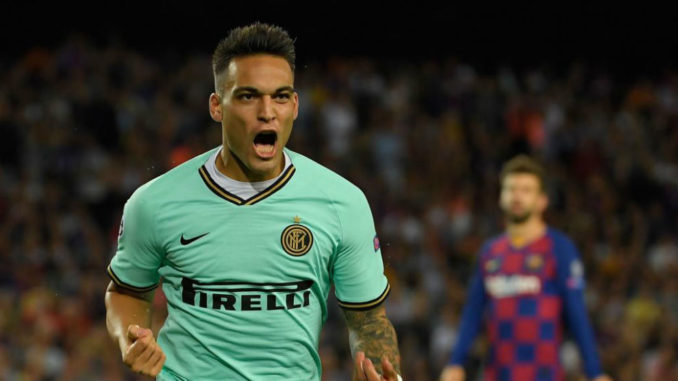 Inter Milan Lautaro Martinez vs Barcelona
