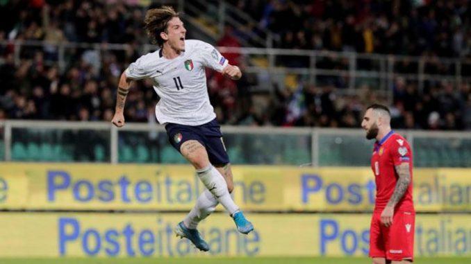 Nicolo Zaniolo Italy vs Armenia