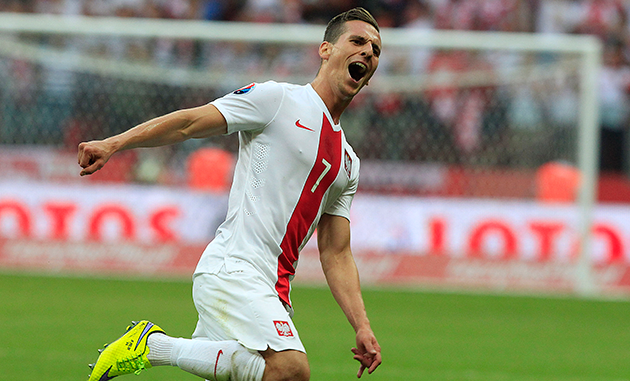 Arkadiusz Milik Poland celebration