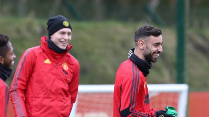 Bruno Fernandes Trains Man Utd