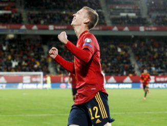 Dani Olmo first goal for Spain