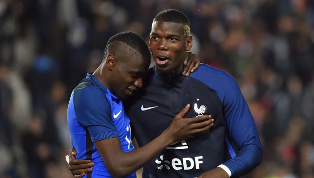 Blaise Matuidi and Paul Pogba for France