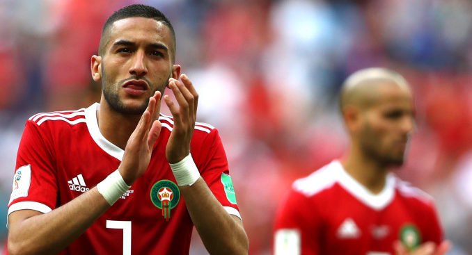 Hakim Ziyech Morroco and Ajax playmaker