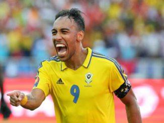 Arsenal star Aubameyang playing for Gabon