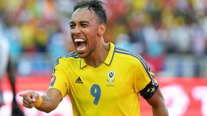Arsenal star Aubameyang playing for Gabon