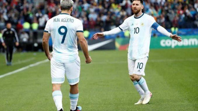 Aguero and Messi Argentina