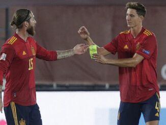Pau Torres and Sergio Ramos - Spain